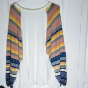 Free People Sweaters - Free People Rainbow Dreams Knit Oversized Sweater